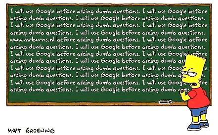 No dumb questions!