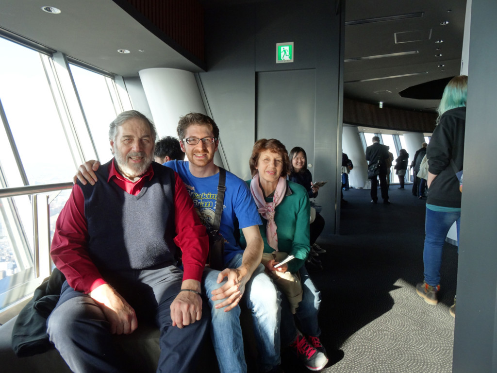 Family picture at Skytree