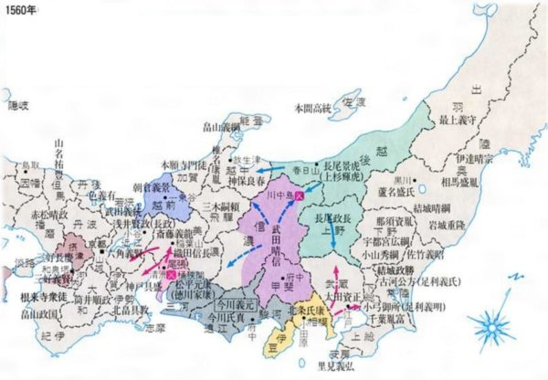 Map of Japan during the feudal era- many countries, one great land